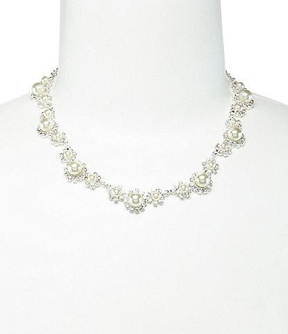 Cezanne Daisy Faux-Pearl & Rhinestone Necklace