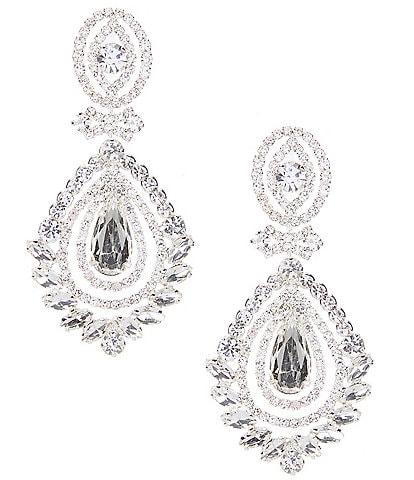 Cezanne Deco Eyes Chandelier Statement Earrings