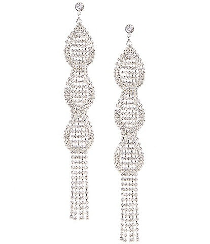 Cezanne Deco Loops and Fringe Statement Earrings