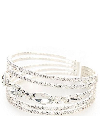Cezanne Floating Glitz Rows Cuff Bracelet