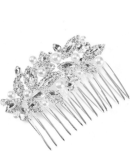 Cezanne Floral Pearl Hair Comb