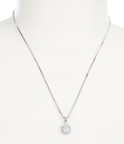 Cezanne Halo Drop Pendant Necklace