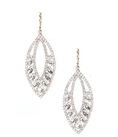 Cezanne Open Leaf Chandelier Earrings