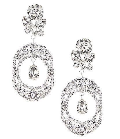 Cezanne Open Ovals Chandelier Earrings