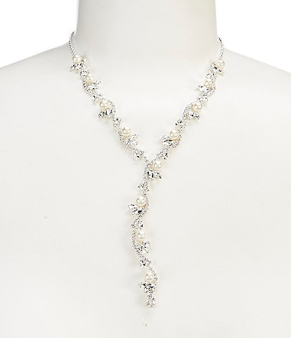 Cezanne Pearl Ivy Y Necklace
