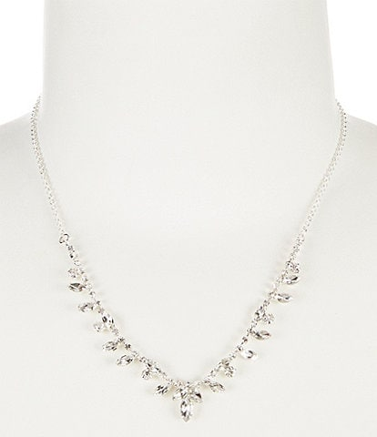 Cezanne Points Rhinestone Frontal Necklace