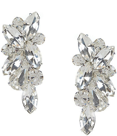 Cezanne Rhinestone Cluster Stud Statement Earrings