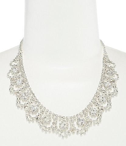 Cezanne Rhinestone Weave Frontal Necklace