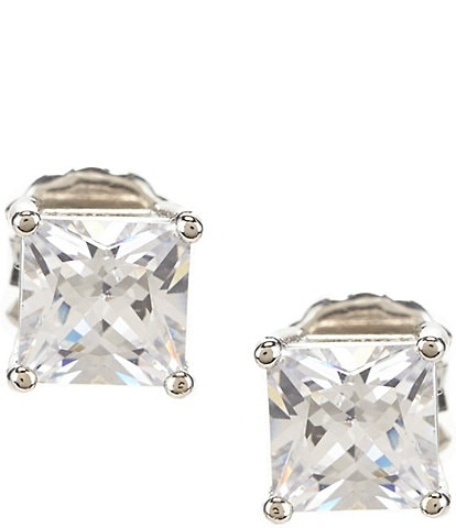 Cezanne Square Cubic Zirconia Stud Earrings