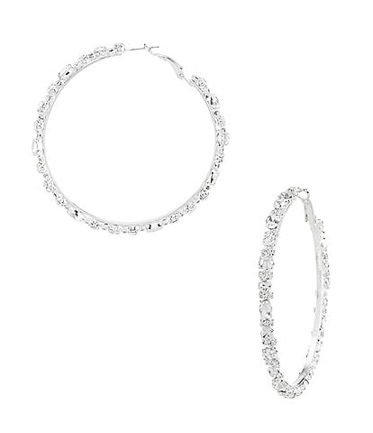 Cezanne Trimmed Hoop Earrings