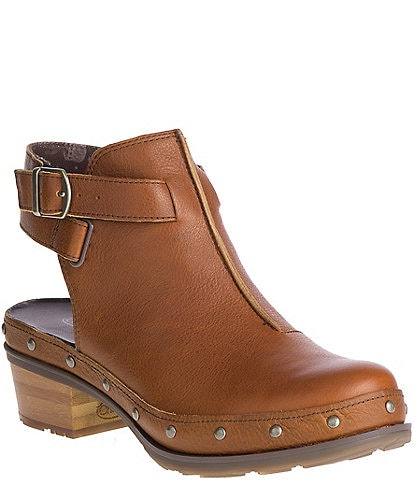 Chaco Cataluna Leather Studded Clogs