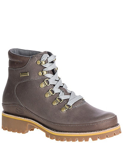 Chaco Women's Fields Waterproof Leather Lug Sole Combat Boots