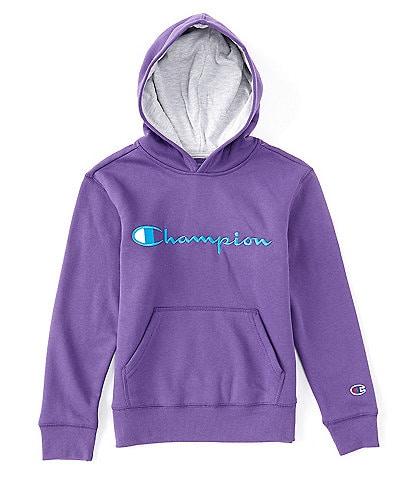 Champion Big Boys 8-20 Signature Logo Fleece Pullover Hoodie