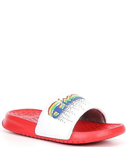 Champion Girl's Super Slide Flurry Logo Detail Sandals (Toddler)