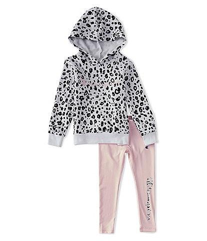 Champion Little Girls 2T-6X Animal-Print Pullover Hoodie & Leggings Set