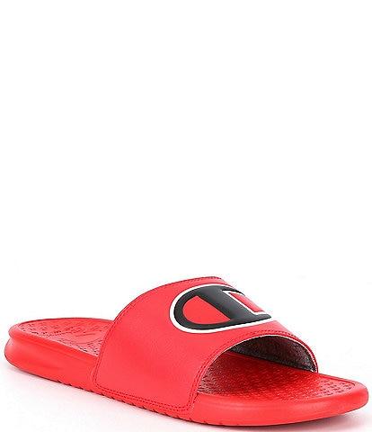 Champion Men's Super Slide Solid C Logo Detail Sandals