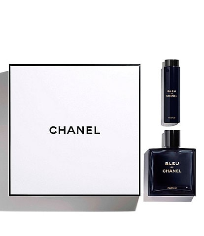 CHANEL BLEU DE CHANEL 3.4 OZ. PARFUM TWIST AND SPRAY SET