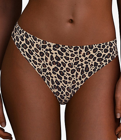 Chantelle 360 Stretch Medium Rise Leopard Print Thong