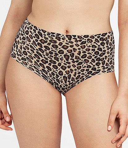 Chantelle Leopard Print Soft Stretch High Waist Brief Panty