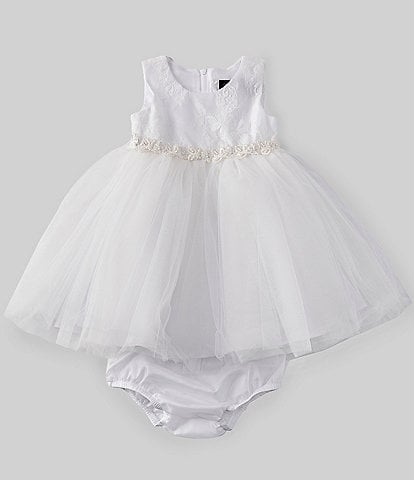 9f275409a61ef Chantilly Place Baby Girls 12-24 Months Lace/Mesh Ballerina A-Line Dress