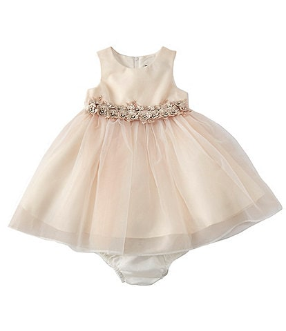 c5508b04490 Chantilly Place Baby Girls 12-24 Months Satin Organza A-Line Dress