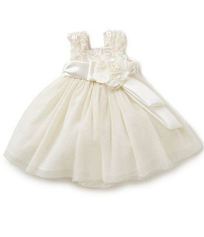 Chantilly Place Baby Girls 12-24 Months Soutache-Bodice Tulle-Skirted Dress