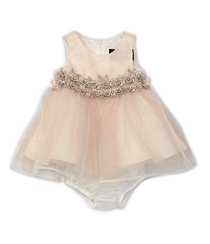 Chantilly Place Baby Girls 3-24 Months Satin/Organza Tulle Fit-And-Flare Dress
