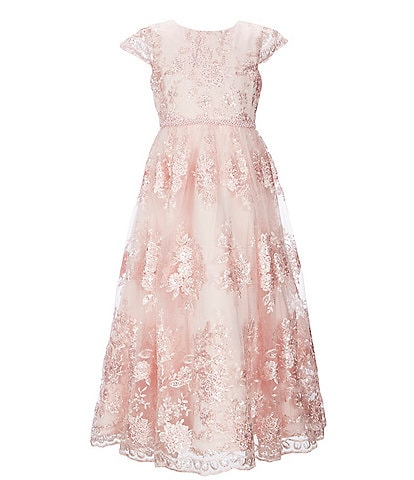 Chantilly Place Big Girls 7-14 Sequin Embroidered A-Line Dress