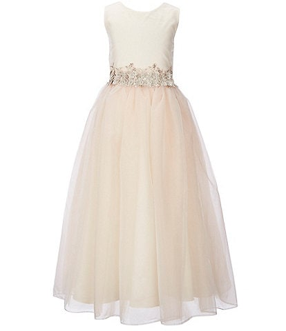 Chantilly Place Big Girls 7-16 Satin-to-Tulle Sleeveless Dress