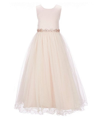 Chantilly Place Big Girls 7-12 Satin/Mesh Ball Gown