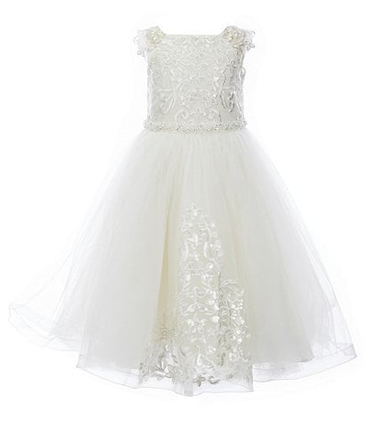 Chantilly Place Little Girls 2T-6X Embroidered Tulle Fit-And-Flare Dress