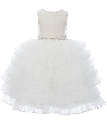 Chantilly Place Little Girls 2T-6X Satin/Tiered Mesh Ball Gown