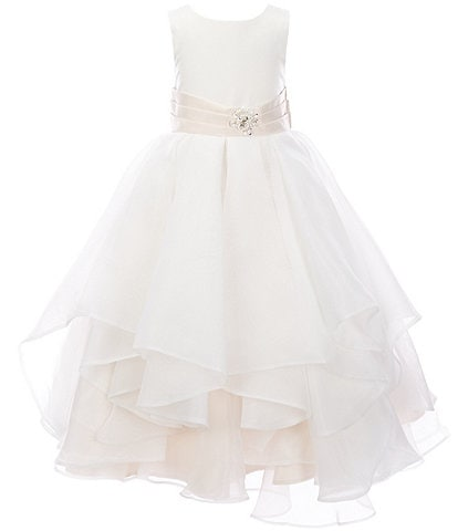 Chantilly Place Little Girls 4-6X Satin/Tiered Organza Fit-And-Flare Dress