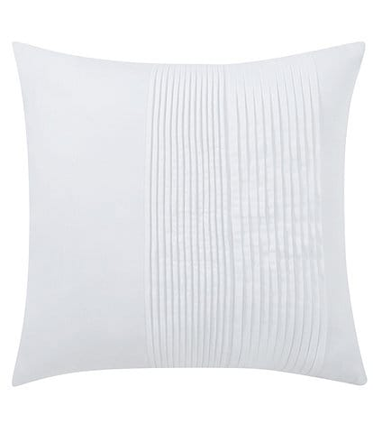 Charisma Bedford White Pleated Square Pillow