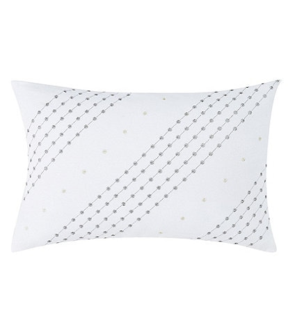 Charisma Belaire Stripe Embroidered Breakfast Pillow