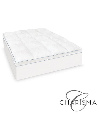 Charisma Luxury Plush 3.5#double; Memory Foam Cluster and Gel Fiber Mattress Topper
