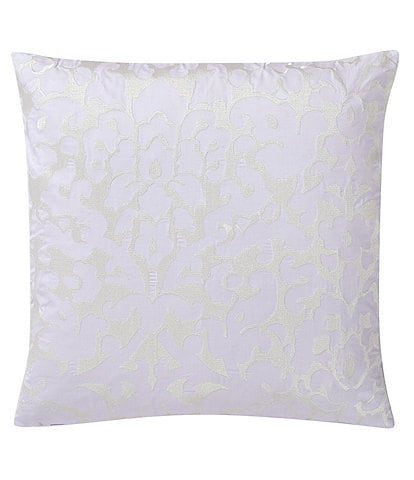 Charisma Medici 20#double; Square Floral Embroidered Decorative Pillow