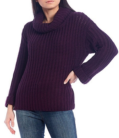 Chelsea & Theodore Cowl Neck Long Sleeve Sweater