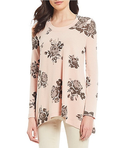 Chelsea & Theodore Floral Print Knit Top