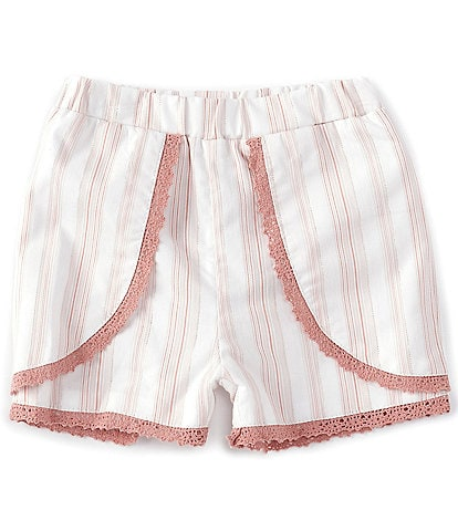 Chelsea & Violet Baby Girls 12-24 Months Lace-Trim Stripe Woven Shorts