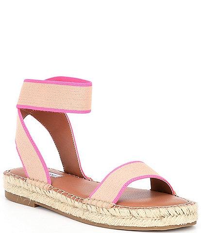 Chelsea & Violet Bandit Neon Ankle Strap Espadrille Flatform Sandals