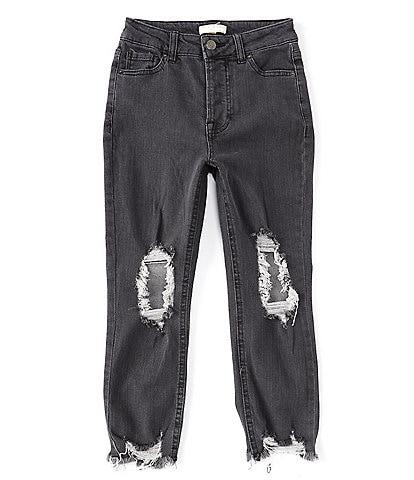 Chelsea & Violet Big Girls 7-16 Distressed Denim Ankle Jeans