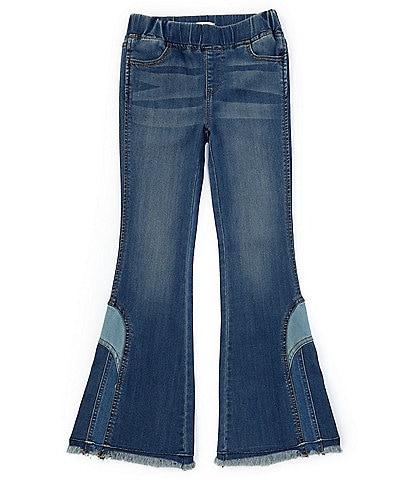 Chelsea & Violet Big Girls 7-16 Patchwork-Inset Denim Flare Pull-On Jeans
