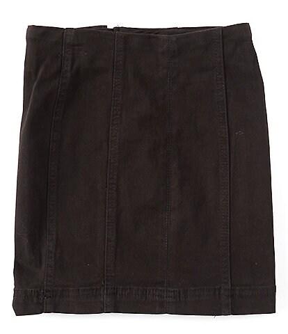 Chelsea & Violet Big Girls 7-16 Zip Back Mini Skirt
