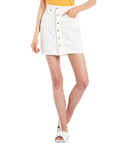 Chelsea & Violet Button Front Denim Skirt