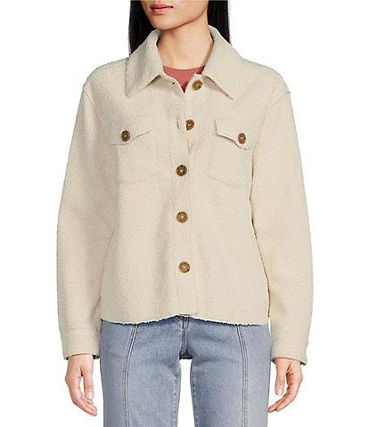 Chelsea & Violet Faux Fur Long Sleeve Notch Lapel Cozy Jacket