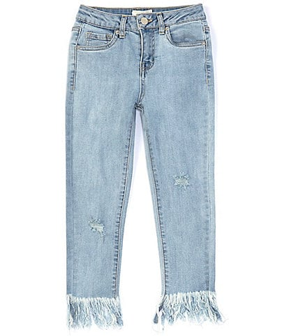 Chelsea & Violet Girls Big Girls 7-16 Exaggerated Fringe-Hem Skinny Jean