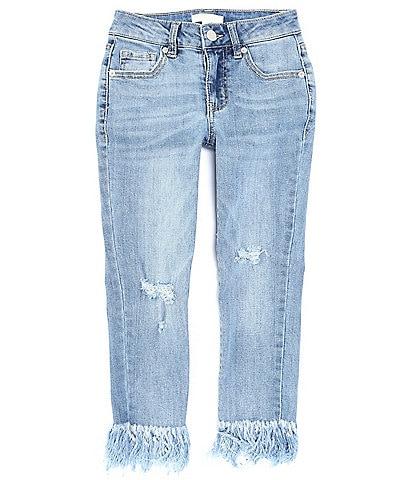 Chelsea & Violet Girls Big Girls 7-16 Exaggerated Fringe-Hem Skinny Jeans