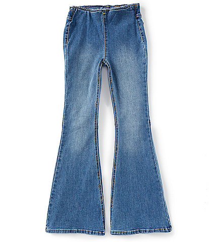 Chelsea & Violet Girls Big Girls 7-16 Flared Pull-On Jeans