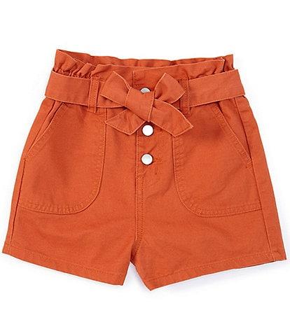 Chelsea & Violet Girls Big Girls 7-16 Paperbag- Waist Shorts
